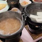 ホテルウェルネス飛鳥路 - 茶がゆと湯豆腐(朝食)