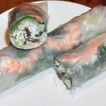 サイゴン - 生春巻き海老と豚肉と野菜入り アップ