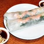 サイゴン - 生春巻き海老と豚肉と野菜入り とソース