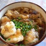 ねこや食堂 - イカ天うどん(700円)