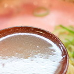 らぁ麺や 汐そば雫 - 汐そばのスープ  '15 2月中旬