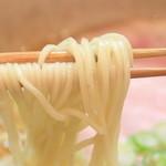 らぁ麺や 汐そば雫 - 汐そばの細麺  '15 2月中旬