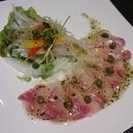 CAFE食堂.キズナ - 鯛のカルパッチョ(夜)
