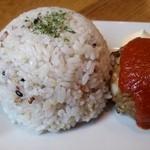 カフェマコト - 御飯は雑穀米です。