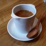 カフェマコト - ランチのスープです。