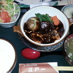 にっぽんの洋食 江戸一 - 2013/02/15 12:30訪問 ビーフシチュー定食¥1,350