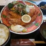 にっぽんの洋食 江戸一 - 2013/06/11 12:10訪問 エビフライ定食\1,250