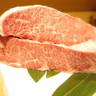 厳選した国産和牛、そらのステーキは一味違います。