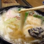 中佐中店  - うどんの麺は2種類入っていました 太麺です