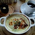 よもぎ田cafe - ドリアランチ(ほうれん草とベーコンのドリア)