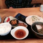 丹波篠山うどん 一真 - 春菜のてんぷら定食850円