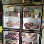 町田バーネット牧場 - お肉冷蔵庫