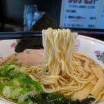 風知空知麺 - ツルッとした喉越しの良い中細麺