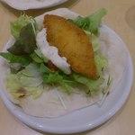 ガレット - 料理写真:白身魚のフライのタコス280円(2015.4)