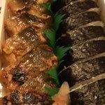 一力 - 鮎寿司と巻き寿司