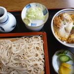 満留賀 - 料理写真:ミニカツ丼セット