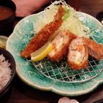 マ・メゾン - 海老・ヒレチキンロール定食1404円