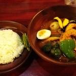 しんペー - しんぺー@鶴ヶ峰 チキン野菜スープカレー