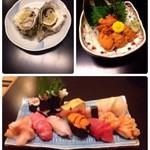 幸寿司 - 岩牡蠣、ウニ、上寿司