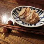 古本とビール アダノンキ - いぶりがっことクリームチーズ300円