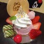 京ぽんと 祇園菓舎 - おもてなしパフェ(いちご)