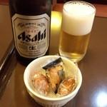 門 - 中瓶ビール+お通し