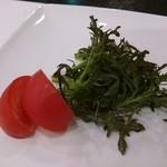 串とも - からし菜 フルーツトマト