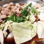 楽蔵 - もつすき鍋