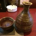 くつろぎ屋 我心 - 吉野杉の樽酒1合600円