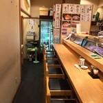 つきぢ神楽寿司 - 1階:カ10席/テ4席