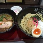鯖の江 - 越前鬼おろしつけ麺(大盛)850円(2015.04)