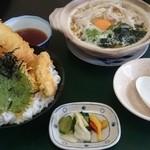 割烹食事 井谷 - 2015年3月 穴子天丼と鍋焼きラーメン