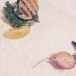 ジュー ドゥ マルシェ - 北海道ホタテとシモタ農園野菜のミルフィーユ ハーブの香り