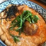 旬味そば 名倉 - 真ん中に練り梅