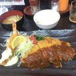37151353 - 海老ロースとんかつ定食1300円也!