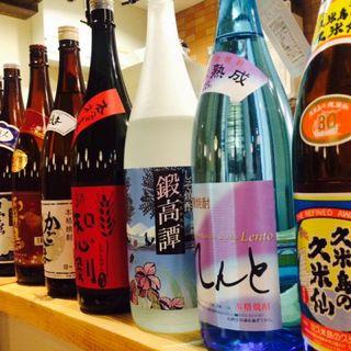 人気の焼酎、日本酒が豊富◎