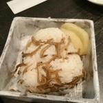爛漫 - 料理写真:おにぎり♡じゃこ