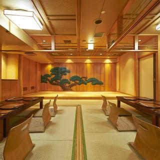 お座敷個室でご宴会、完全個室でご用意いたします。