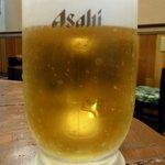 陶板焼 一宮 - まずは何時ものように生ビールからのスタートです。
