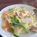 台湾料理 茂源 - 豚肉と玉子炒め