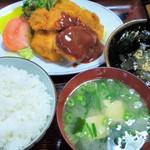 八方 - 日替わり定食(一口チキンカツ)
