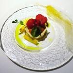 ゴーシェ - 鱈のブランダード 高糖度のトマトのマリネ、ピュレ、パウダー