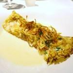 ゴーシェ - ズワイガニと季節野菜の軽い煮込みのクレープ巻き