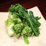かんべえ - 春のお野菜を天ぷらで