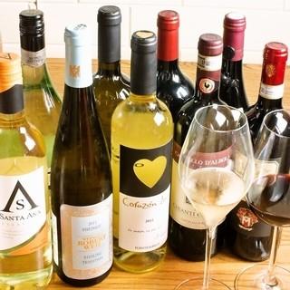 こだわりのイタリアワインを気軽に味わう◎