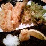にしんば - 穴子とふきのとうの天ぷら