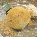 トラットリア ダ コヴィーノ - プルーンのニョッキ、プルーンとグラッパのアイスクリーム