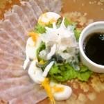 レストラン道 - 温泉トラフグのカルパッチョ