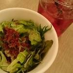 バルバラスイータブル - サラダ ・ザクロジュース