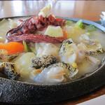 レストラン むーんらいと - 柳ダコ&ツブ入り野菜たっぷり塩あんかけを…